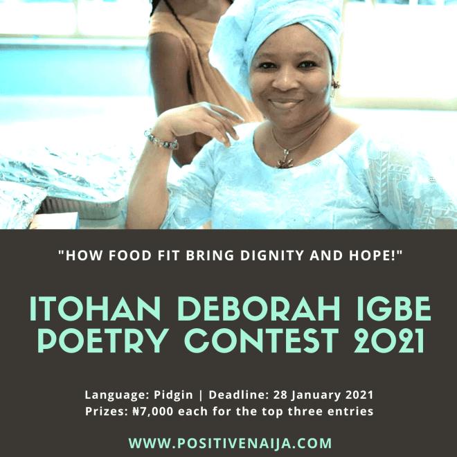 2021 Itohan Hephzibah Deborah Igbe Poetry Contest