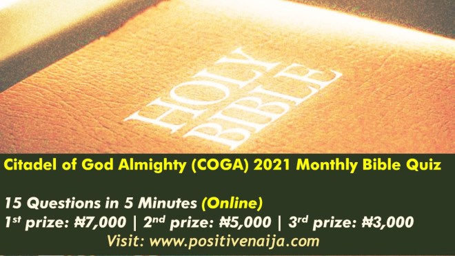 2021 COGA Cathedral Monthly Bible Quiz Competition