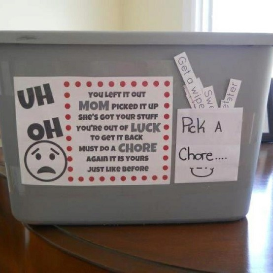 Uh-Oh! The Out of Luck Ransom & Chore Bin…Would you? Should you?