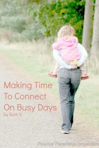 making time to connect on a busy day