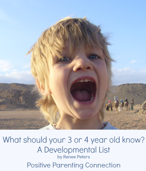 What Should Your 3 Year Old Know? A Development List.