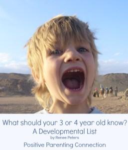 positive parenting connection: development list