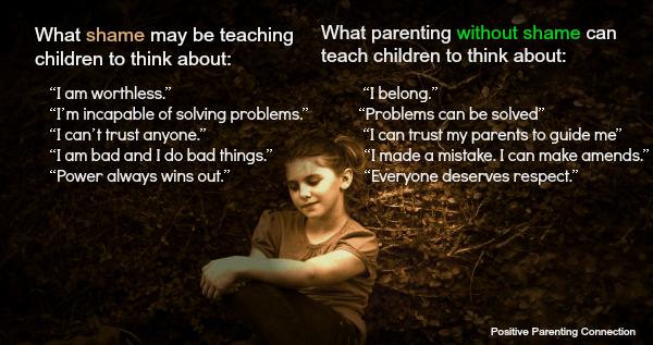 Shame Does Not Teach Children to Do Better