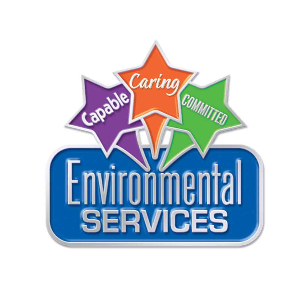Environmental Services Capable Caring Committed Lapel Pin