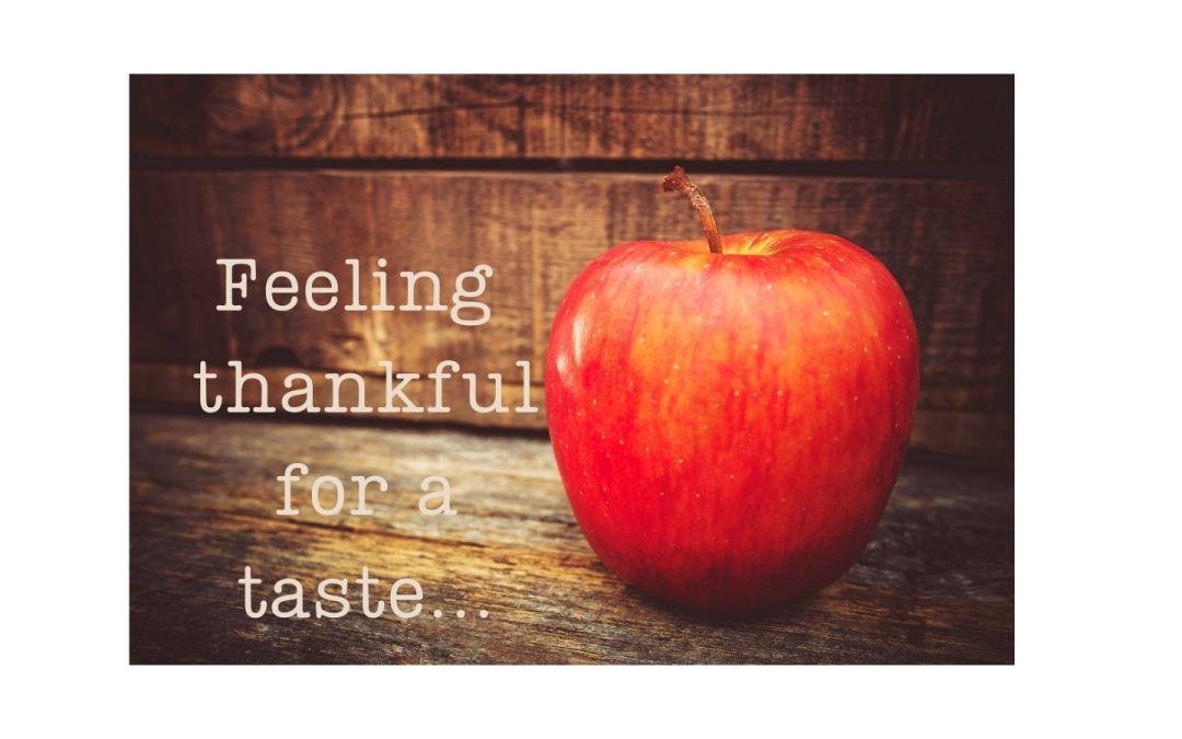 Feeling thankful for the taste!