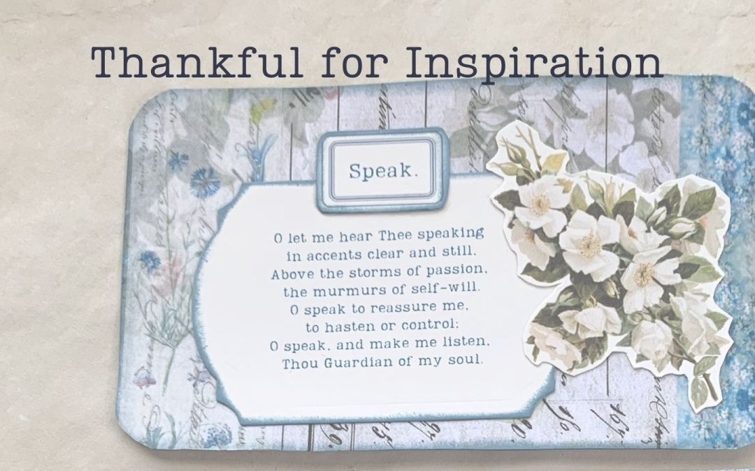 Thankful for Inspiration