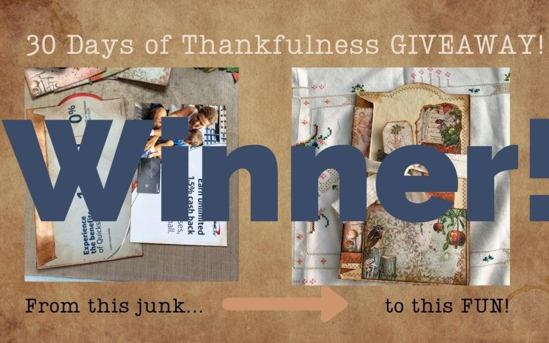30 Days of Thankfulness – Winner!