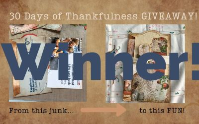 30 Days of Thankfulness – Winner!