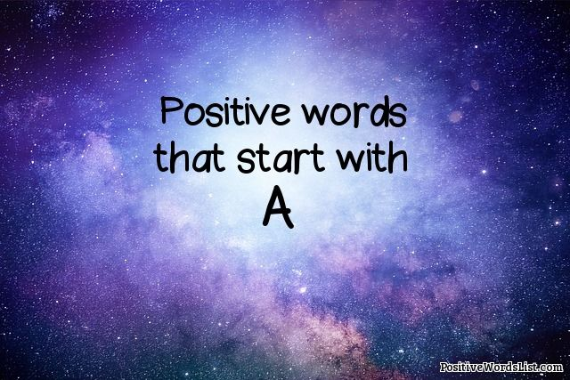 positive words that start with a