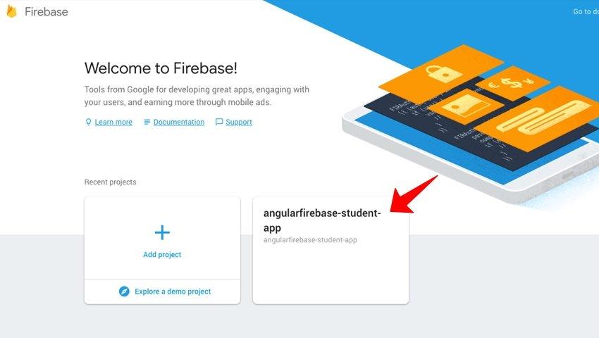 Firebase dashboard