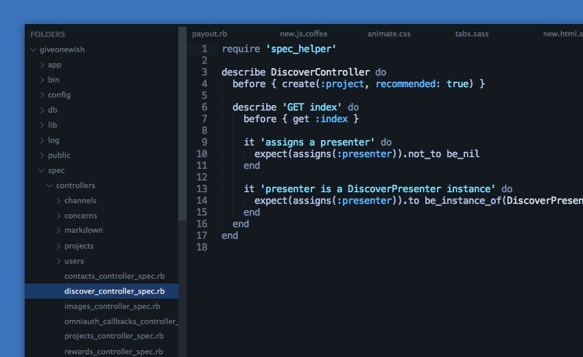 Darkmatter UI themes for Sublime Text 2/3