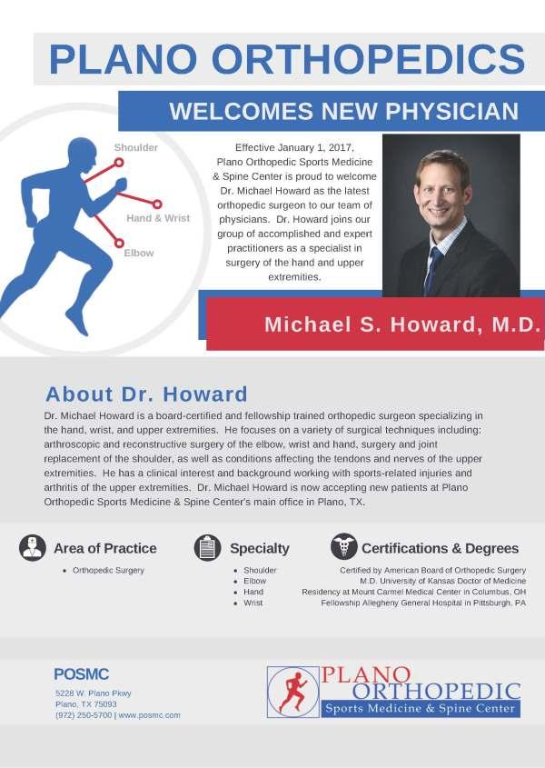 Plano Orthopedics Welcomes New Physician - Plano ...