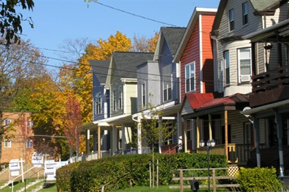 Pfaffmann_east_liberty_street A street in East Liberty with houses developed by ELDI, with prototypes by Pfaffmann + Associates.
