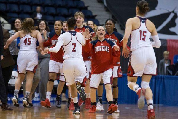 Duquesne women's basketball advances to Atlantic 10 ...