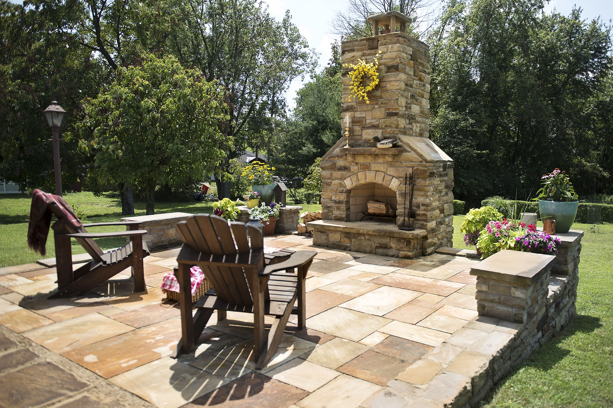 DIY stonecutter: Donora man builds his own patio, outdoor ... on Diy Outdoor Fire  id=68846