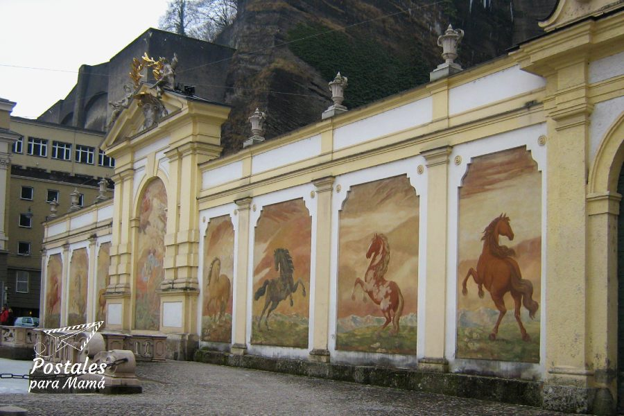 Salzburgo caballos - Postales para Mamá