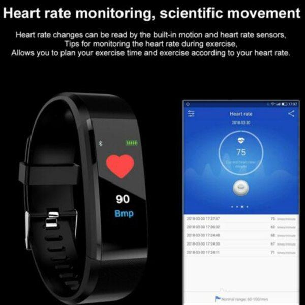 Športové fitness náramkové hodinky na sledovanie aktivity 12