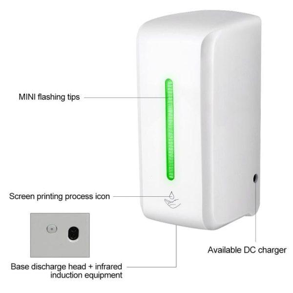 Automatický dávkovač mydla s bezdotykovým senzorom, dezinfekcia rúk (850 ml)  6