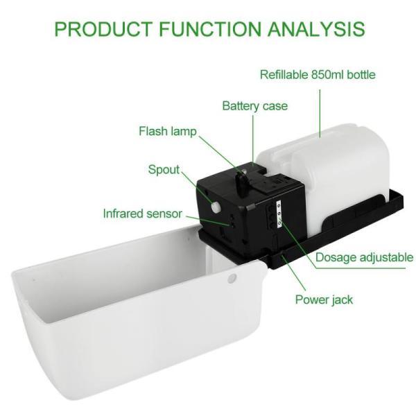 Automatický dávkovač mydla s bezdotykovým senzorom, dezinfekcia rúk (850 ml)  5