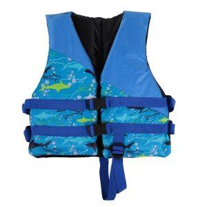 Detská záchranná vesta, bezpečnostné vybavenie na kajak, na plavbu na člne, surfovanie 13