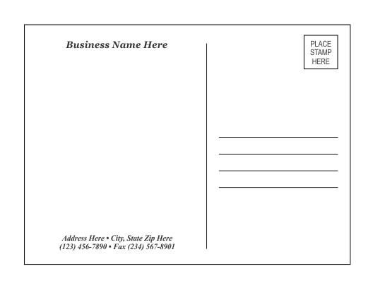 Postcard Template 1