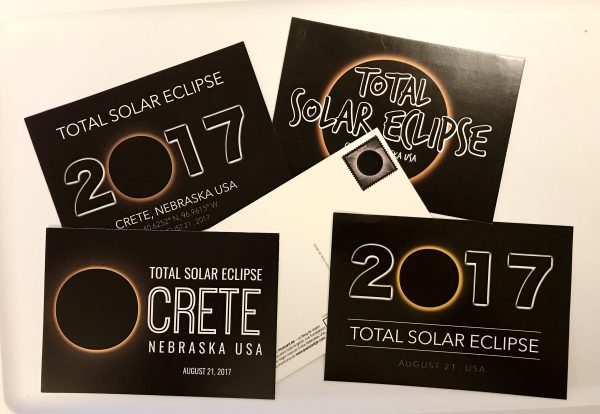 We designed five total solar eclipse postcards that we sold throughout the weekend of the eclipse. They made a great souvenir from the event.