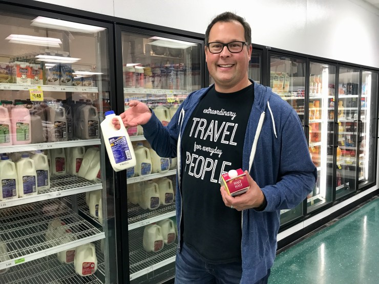 CV's Family Foods milk, Pawhuska, Oklahoma