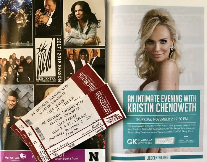 An intimate evening with Kristin Chenoweth