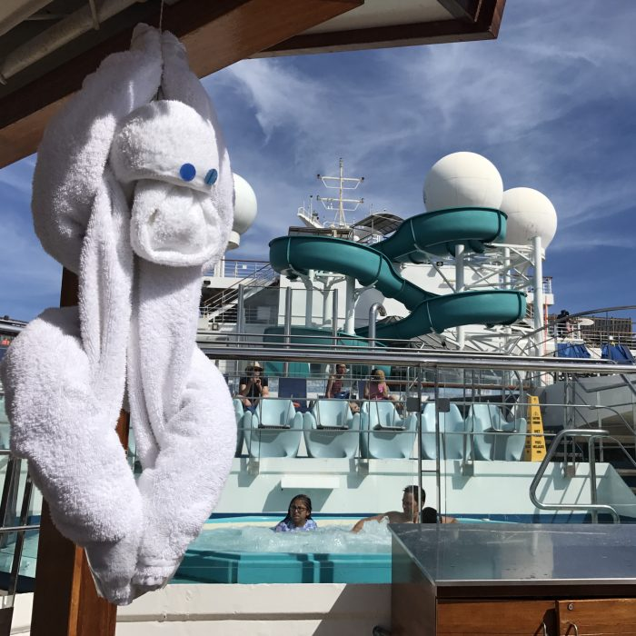 Towel Animal on the Lido Deck of the Carnival Valor