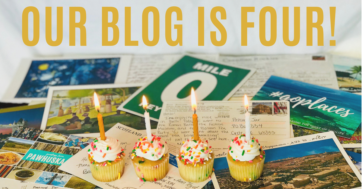 This week marks our fourth blogiversary.