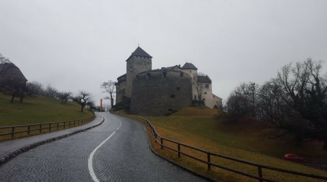 The Vaduz Castle, a medieval castle where the prince and his family still live today. Liechtenstein. [Photo: Nicole Lamberson]