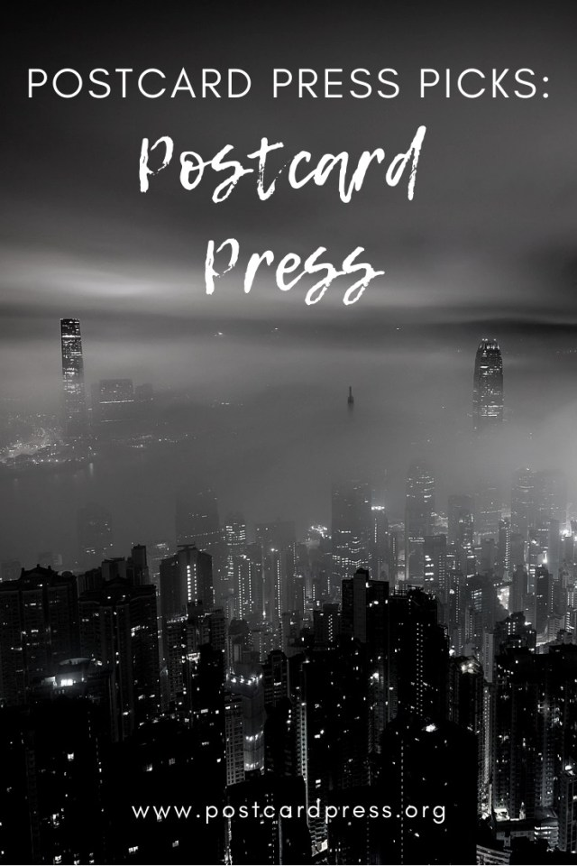 Postcard Press Pinterest - Black and White Photo of Hong Kong skyline in fog