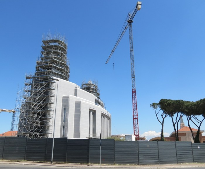 Rome LDS Temple under construction May 2014