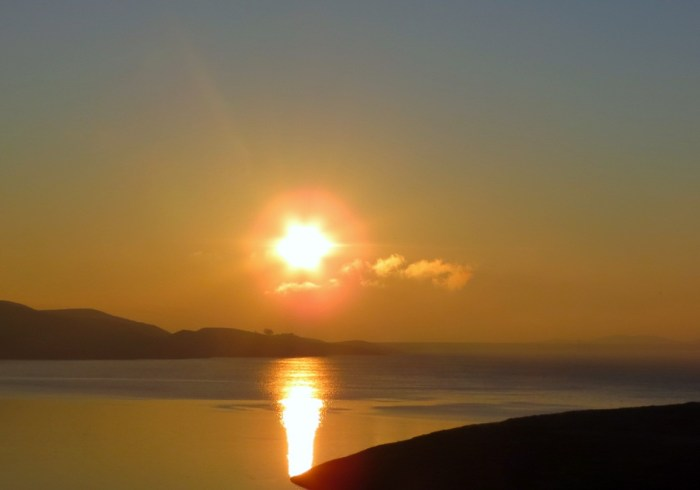 Sunrise over San Luis Reservoir