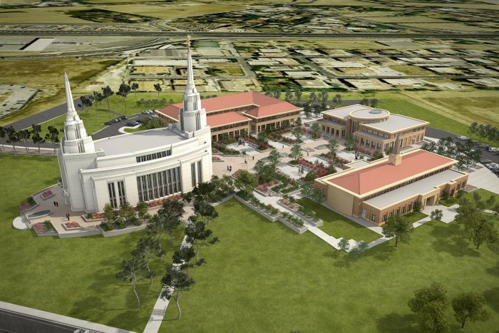photo courtesy of LDS Church - Rome LDS Temple complex