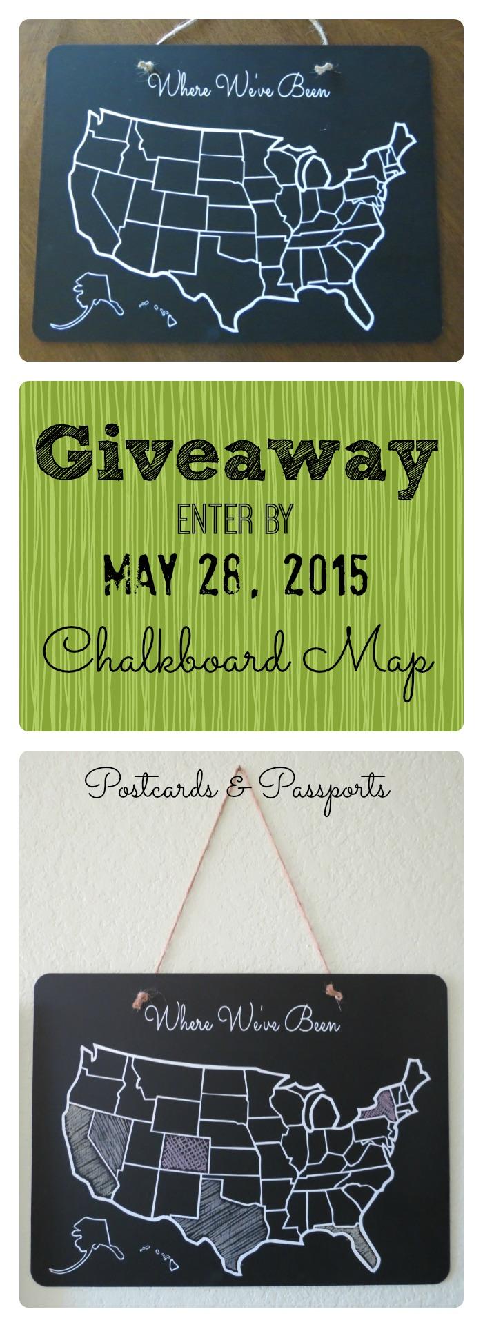 Chalkboard USA Map Giveaway!
