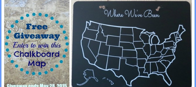 Chalkboard USA Map Giveaway!