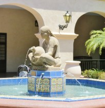 fountain in courtyard of House of Hospitality