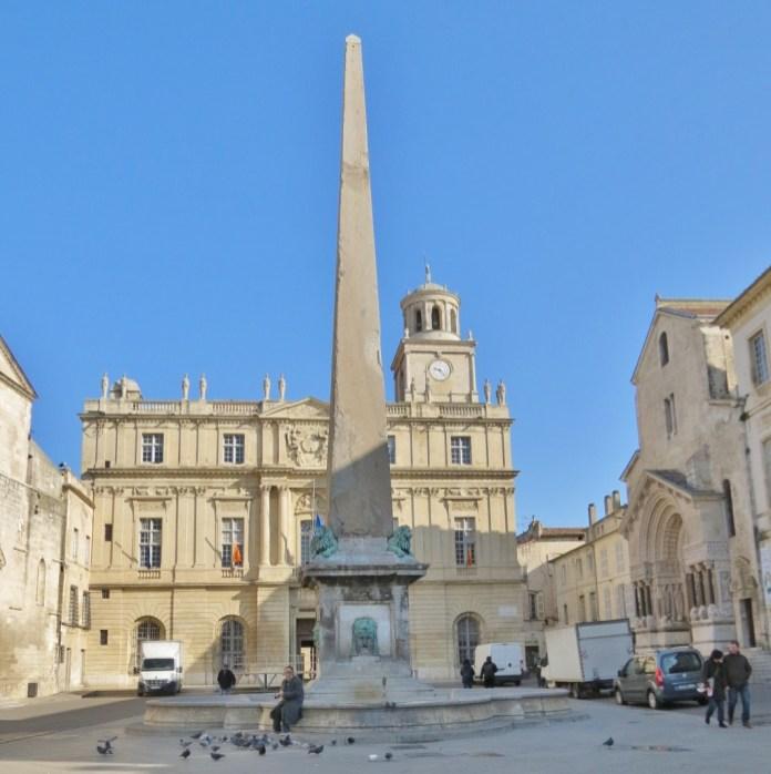 Place de la Republique; City Hall is in the background