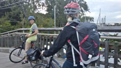 Crossing the bridge to Algonquin Island