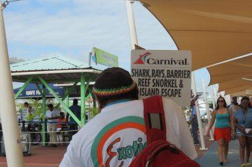 Shore Excursion sign
