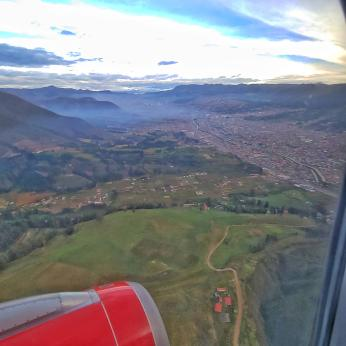 View of Cusco from the air