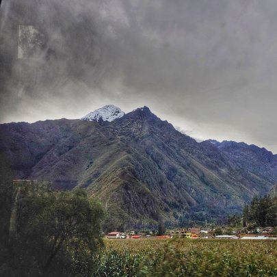 View from Inca Rail train