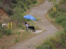 security guard at Lake Hodges dam