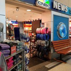 Airport newstand