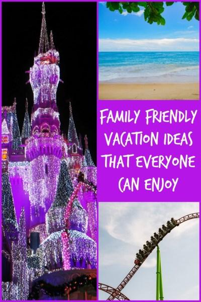 family friendly vacation ideas