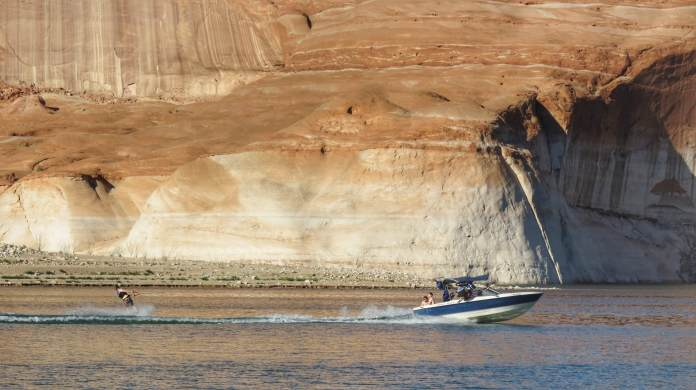 wakeboarding on Lake Powell