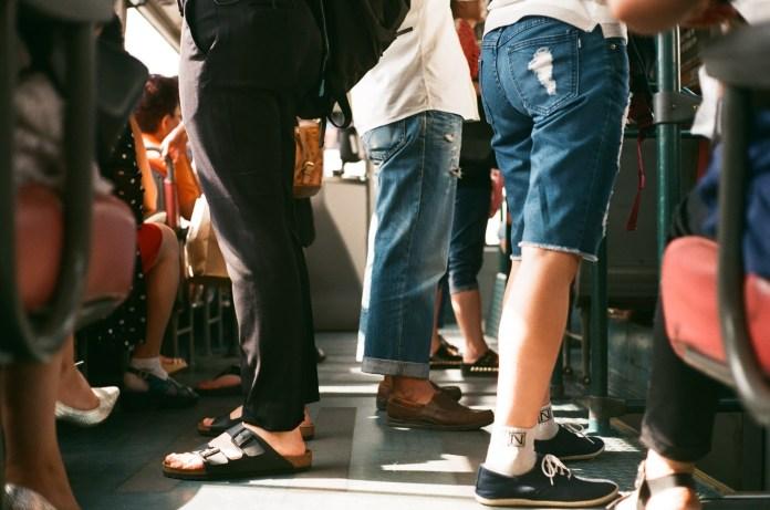 standing on subway