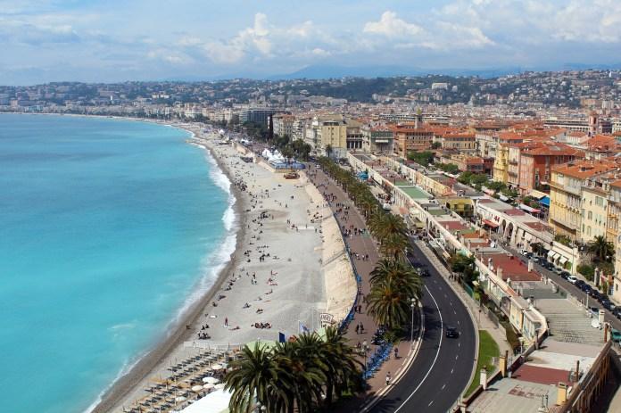 weekend city break, coastline of Nice, France