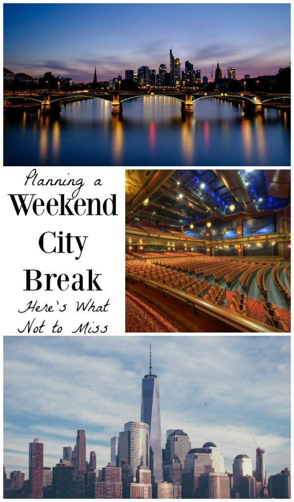 weekend city break